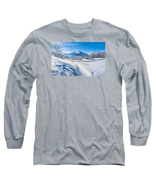 Idyllic Landscape In The Bavarian Alps, Germany Long Sleeve T-Shirt