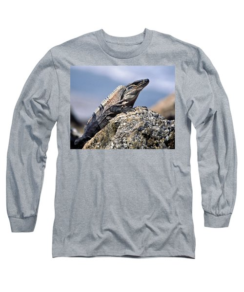 Long Sleeve T-Shirt featuring the photograph Iguana by Sally Weigand