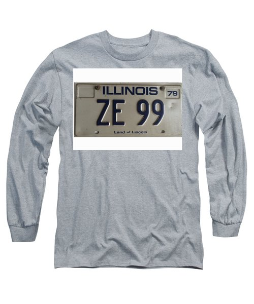 Illinois License Long Sleeve T-Shirt