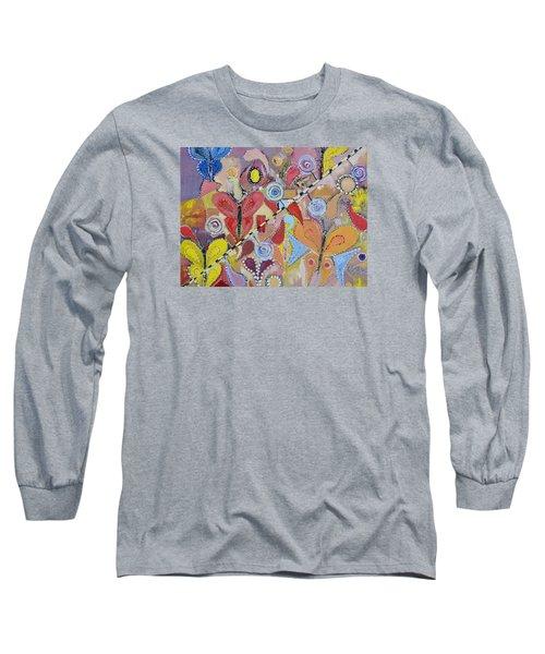 Imagination Land Long Sleeve T-Shirt by Evelina Popilian