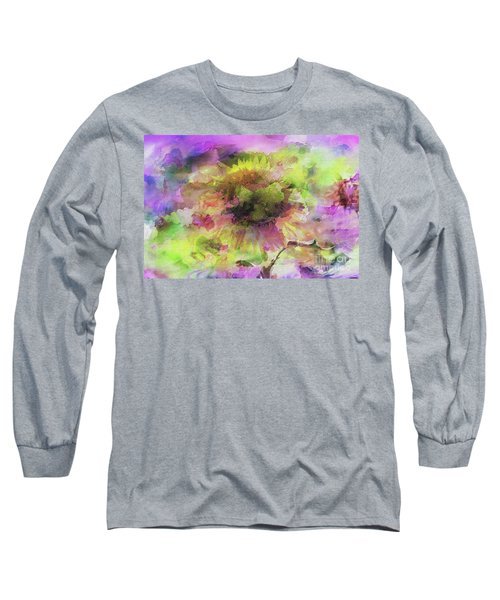 Impression Sunflower Long Sleeve T-Shirt by Geraldine DeBoer