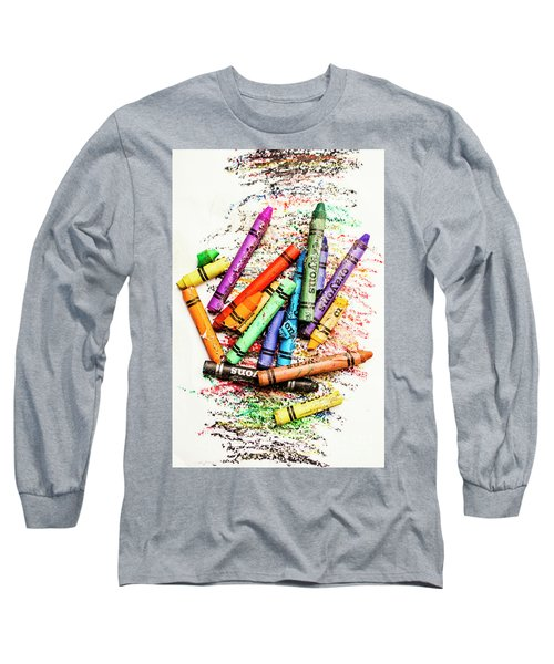 In Colours Of Broken Crayons Long Sleeve T-Shirt