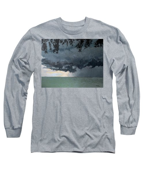 In Coming Storm-epping Forest On The Lake Long Sleeve T-Shirt