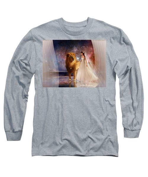 In His Presence  With Title Long Sleeve T-Shirt