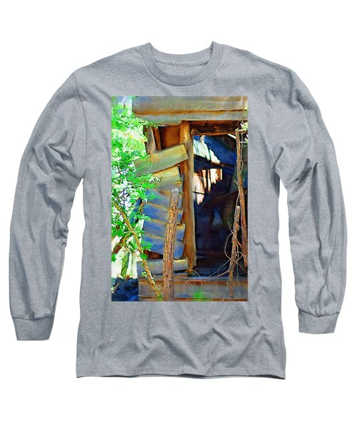 Long Sleeve T-Shirt featuring the photograph In Shambles by Donna Bentley