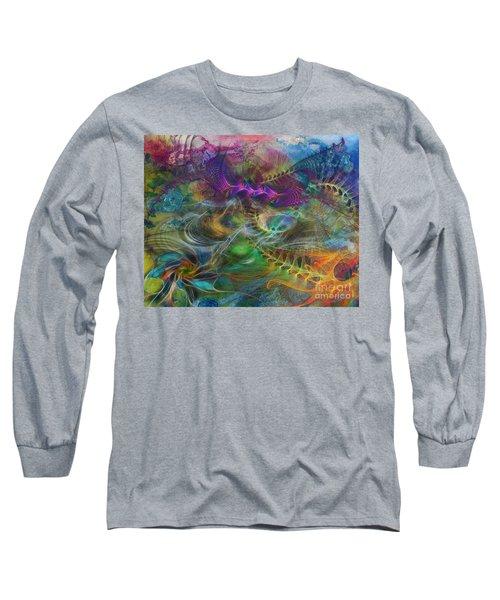 In The Beginning Long Sleeve T-Shirt by John Robert Beck