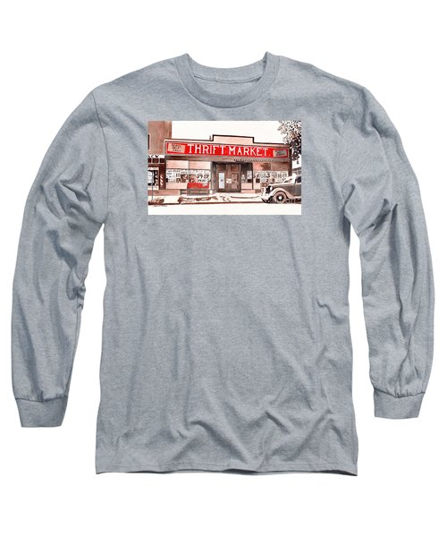 In The Beginning, Meijer, Greenville, Michigan, Old Store Front Long Sleeve T-Shirt