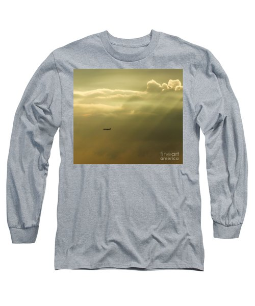 In The Clouds  Long Sleeve T-Shirt by Christy Ricafrente
