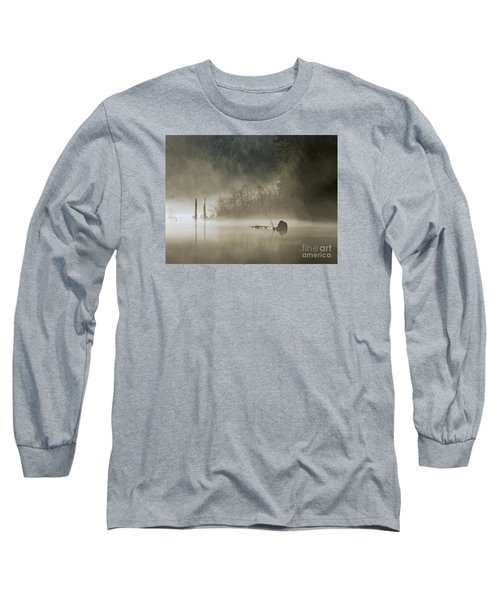 Long Sleeve T-Shirt featuring the photograph In The Fog by Inge Riis McDonald