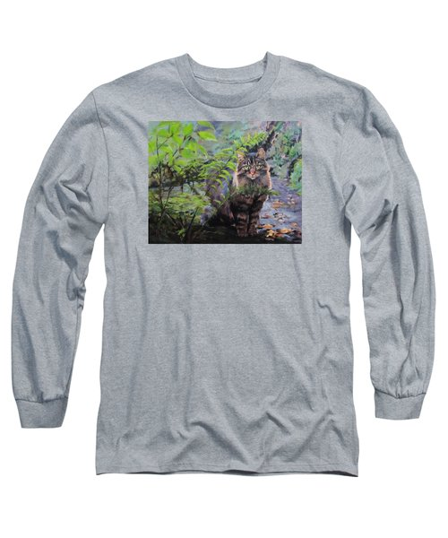 Long Sleeve T-Shirt featuring the painting In The Forest by Karen Ilari