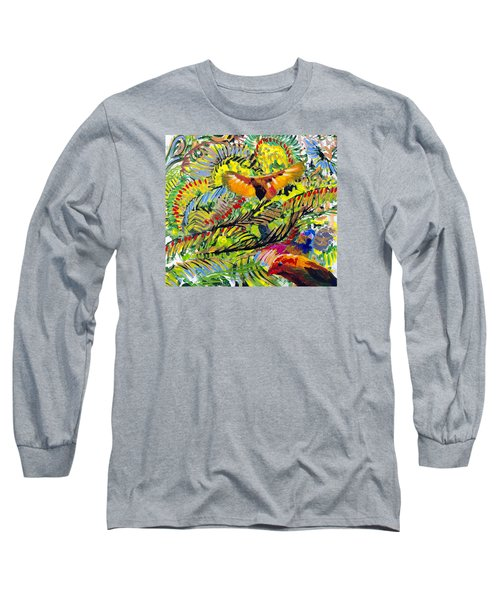 Birds In The Forest Long Sleeve T-Shirt