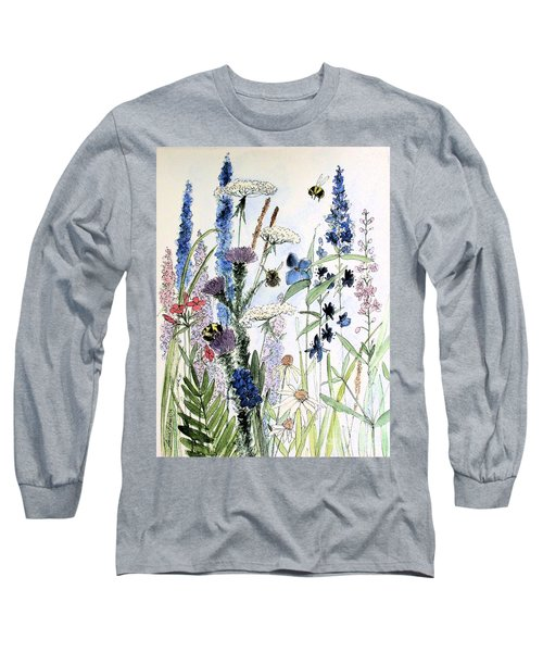 In The Garden Long Sleeve T-Shirt by Laurie Rohner