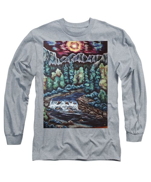 Long Sleeve T-Shirt featuring the painting In The Land Of Dreams by Cheryl Pettigrew