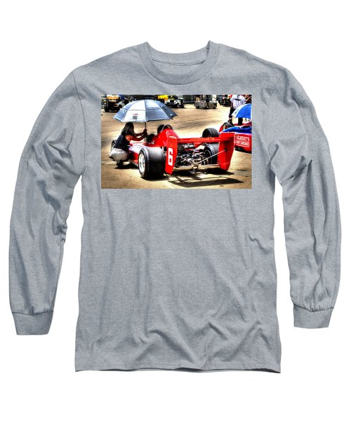 In The Queue Long Sleeve T-Shirt by Josh Williams