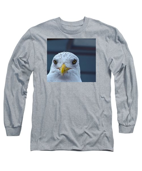 Long Sleeve T-Shirt featuring the photograph In Your Face Gull by Richard Ortolano