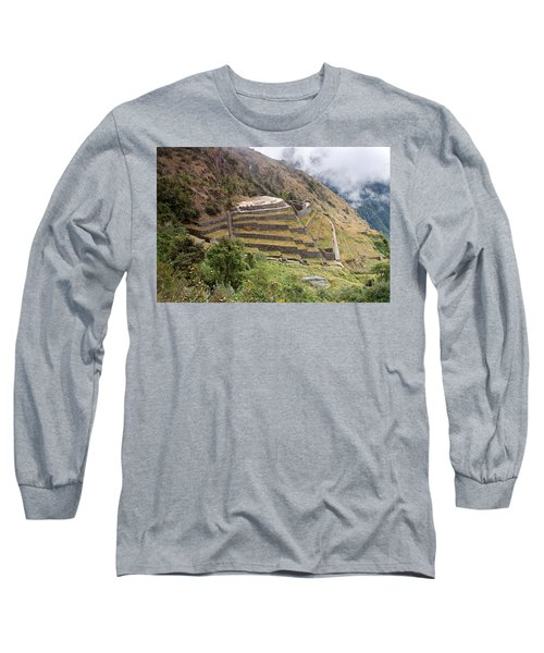 Inca Ruins And Terraces Long Sleeve T-Shirt