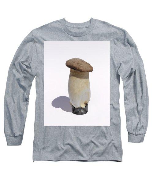 Incandescent Mushroom Long Sleeve T-Shirt by Viktor Savchenko