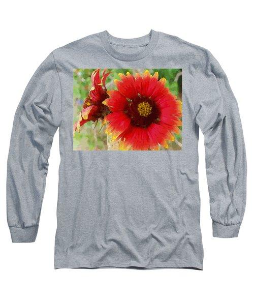 Indian Blanket Flowers Long Sleeve T-Shirt