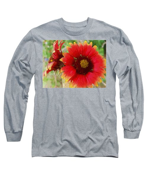 Indian Blanket Flowers Long Sleeve T-Shirt