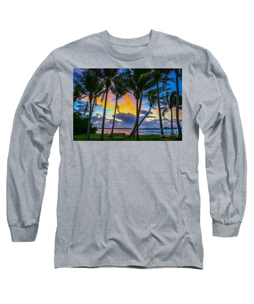 Indian River Sunrise Long Sleeve T-Shirt by Tom Claud