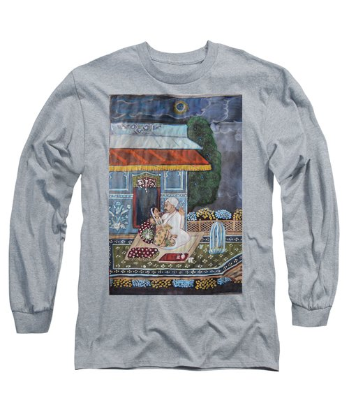 Long Sleeve T-Shirt featuring the painting Indian Romance by Vikram Singh