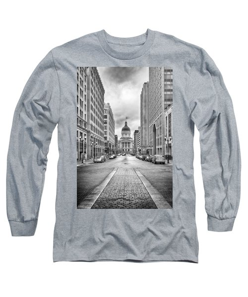 Indiana State Capitol Building Long Sleeve T-Shirt by Howard Salmon