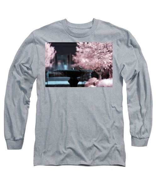 Long Sleeve T-Shirt featuring the photograph Infrared Morning Dove by Brian Hale