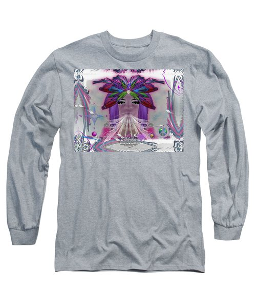 Inhaling Exhaling Peace Long Sleeve T-Shirt by Barbara Tristan