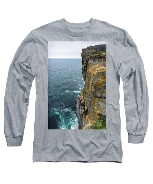 Long Sleeve T-Shirt featuring the photograph Inishmore Cliff And Dun Aengus  by RicardMN Photography
