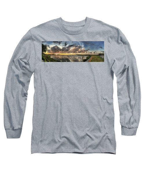 Inlet Sunrise Panorama Long Sleeve T-Shirt by Phil Mancuso