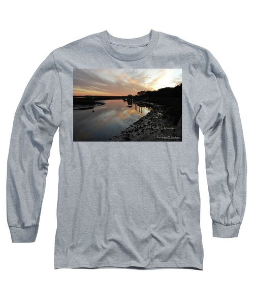 Inlet Sunset Long Sleeve T-Shirt by Gordon Mooneyhan