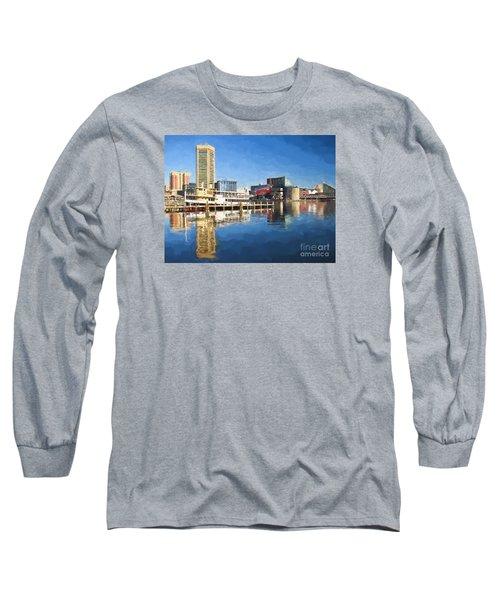 Inner Harbor Reflections  Long Sleeve T-Shirt