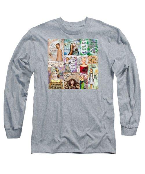 Long Sleeve T-Shirt featuring the mixed media Inspirational Mix by Stanka Vukelic