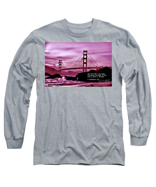 Inspirational - Nightfall At The Golden Gate Long Sleeve T-Shirt