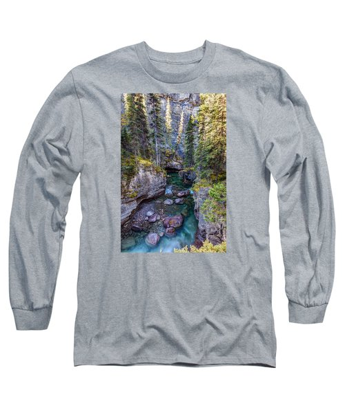 Into The Heart Of Maligne Canyon Long Sleeve T-Shirt