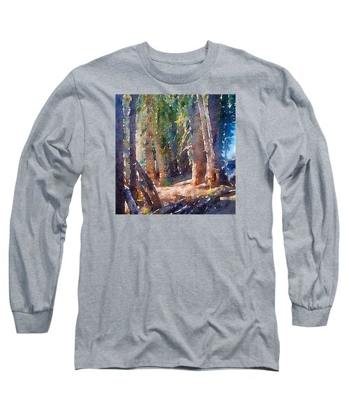 Long Sleeve T-Shirt featuring the photograph Into The Woods Again by Ronda Broatch