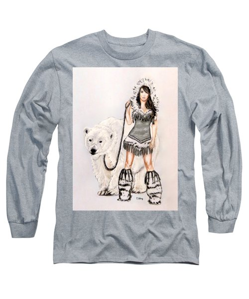 Inuit Pin-up Girl Long Sleeve T-Shirt