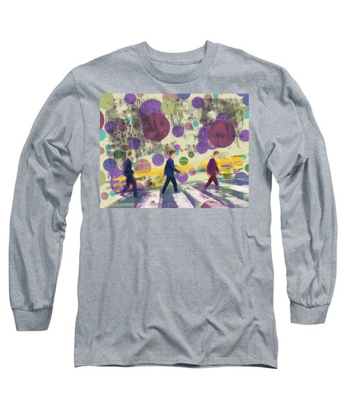 Invisible Men With Balloons Long Sleeve T-Shirt