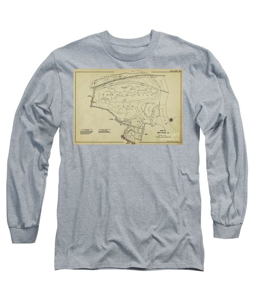 Long Sleeve T-Shirt featuring the photograph Inwood Hill Park 1950's Map by Cole Thompson