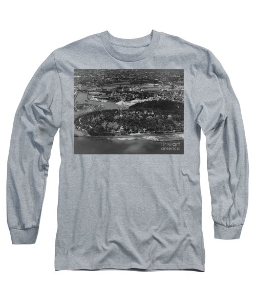 Long Sleeve T-Shirt featuring the photograph Inwood Hill Park Aerial, 1935 by Cole Thompson
