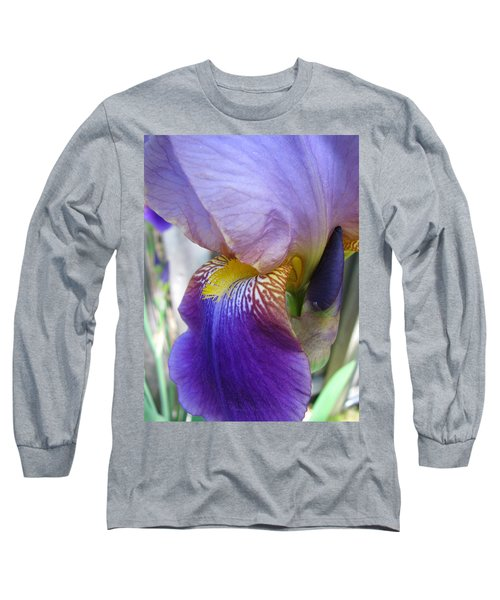 Iris Blossom And Bud Long Sleeve T-Shirt