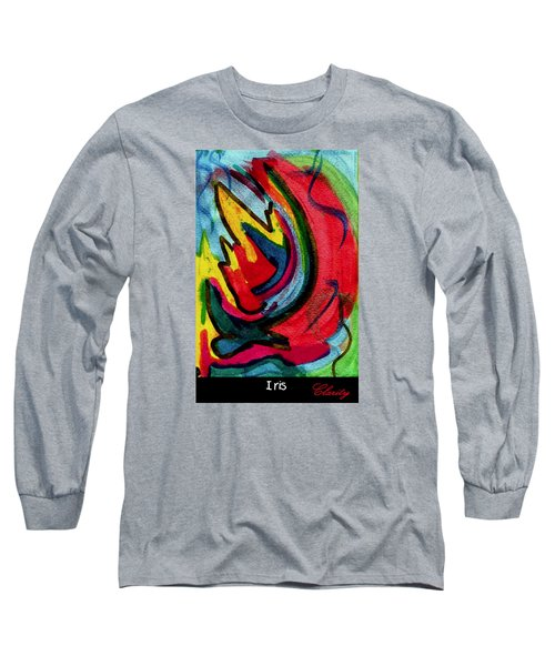 Long Sleeve T-Shirt featuring the painting Iris by Clarity Artists