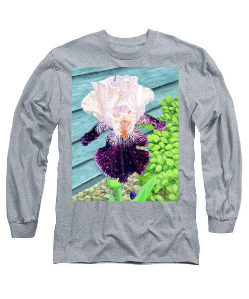 Iris In The Spring Rain Long Sleeve T-Shirt
