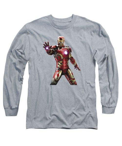Iron Man Splash Super Hero Series Long Sleeve T-Shirt