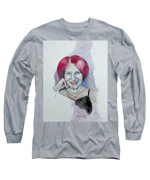 Long Sleeve T-Shirt featuring the painting Isabella by Ray Agius