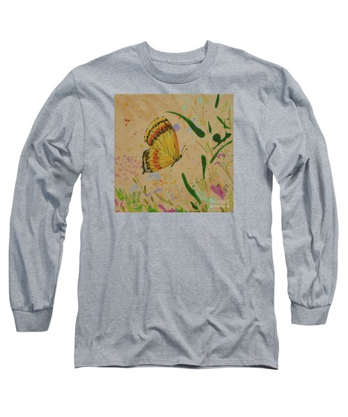 Island Butterfly Series 1 Of 6 Long Sleeve T-Shirt by Gail Kent