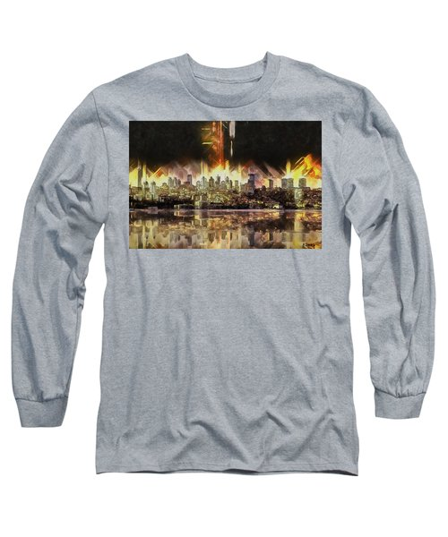 Long Sleeve T-Shirt featuring the painting Istanbul In My Mind by Kai Saarto