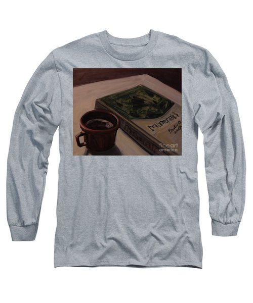 Long Sleeve T-Shirt featuring the painting It Is Coffee Time by Olimpia - Hinamatsuri Barbu