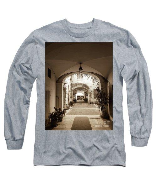 Italian Courtyard  Long Sleeve T-Shirt