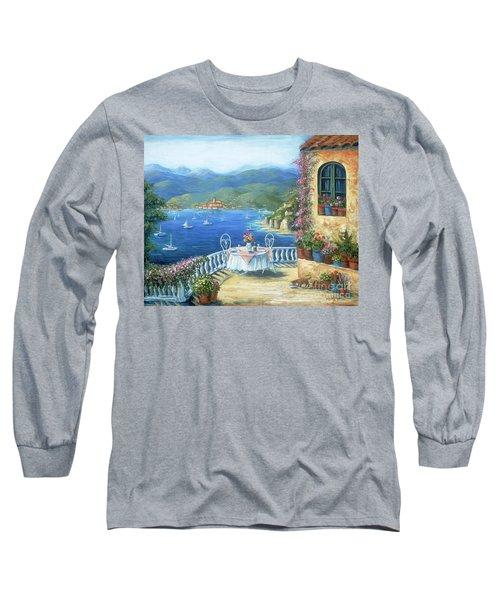 Italian Lunch On The Terrace Long Sleeve T-Shirt